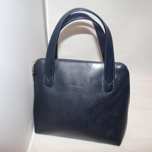 b74d5d1ef0 Kesslord Paris Hanbag satchel Calf leather black